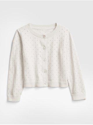 Detský sveter pointelle cardigan Béžová