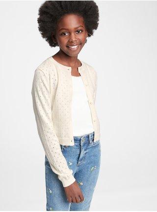 Béžový holčičí dětský svetr knit cardigan