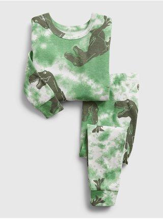 Zelené klučičí dětské pyžamo gap dinosaur graphic pj set