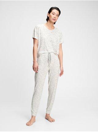 Bílé dámské kalhoty na spaní truesleep joggers in modal