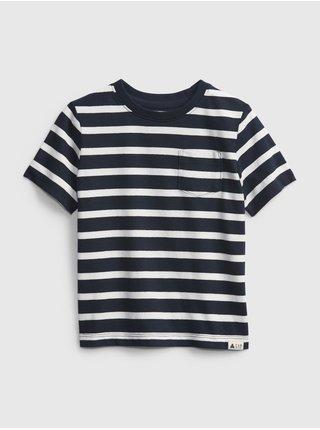 Detské tričko organic mix and match stripe t-shirt Modrá