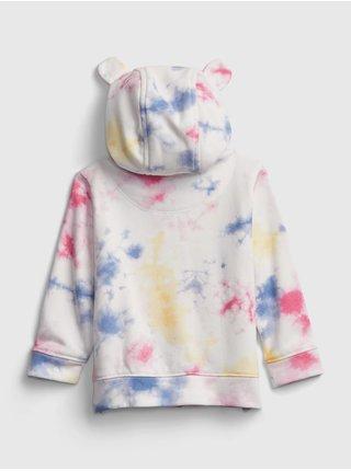 Barevná holčičí baby mikina GAP Logo tie-dye hoodie