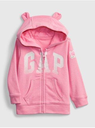 Růžová holčičí baby mikina GAP Logo hoodie