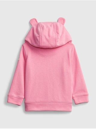 Baby mikina GAP Logo hoodie Ružová