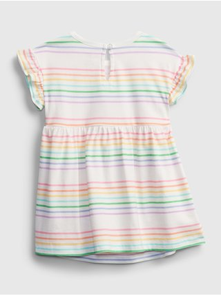 Baby šaty GAP Logo dress Farebná
