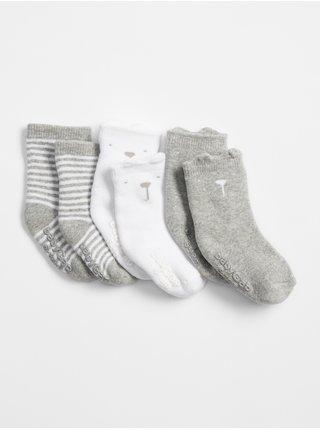 Barevné holčičí baby ponožky brannan bear crew socks, 3 páry