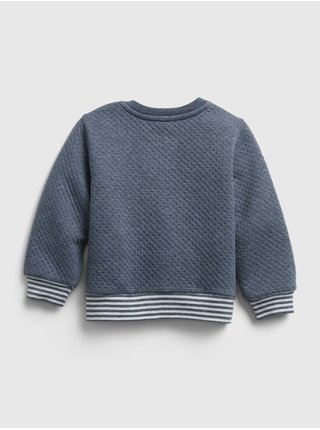 Baby teplákovka quilted outfit set Modrá