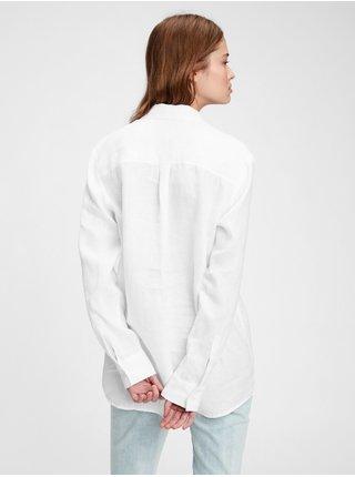 Košeľa linen boyfriend shirt Biela