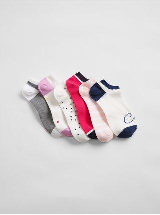Barevné dámské ponožky V-SPR fsh ankle, 6 párů
