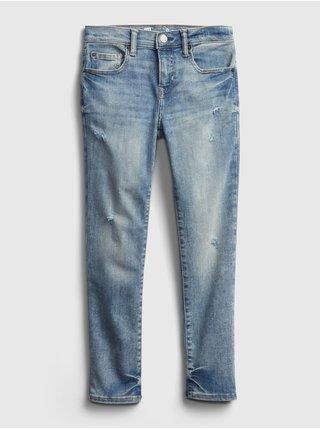 Detské džínsy distressed skinny jeans with stretch Modrá