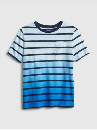 Detské tričko stripe dip-dye t-shirt Modrá