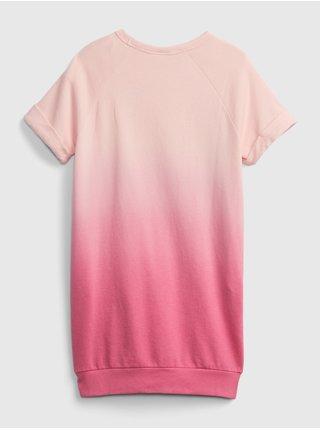 Růžové holčičí dětské šaty GAP Logo ie ss ft