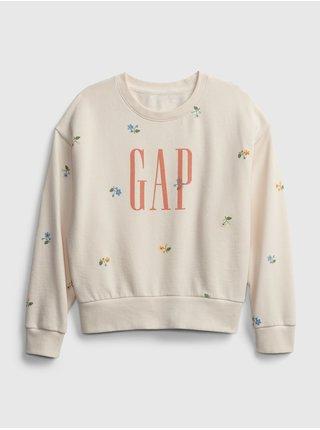 Béžová holčičí dětská mikina GAP Logo wedge fshn po 113ivfrf xl