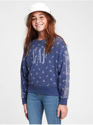 Modrá holčičí dětská mikina GAP Logo wedge fshn po 113ivfrf xl