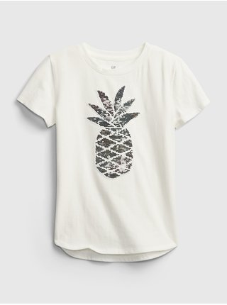 Detské tričko flippy sequin graphic t-shirt Biela
