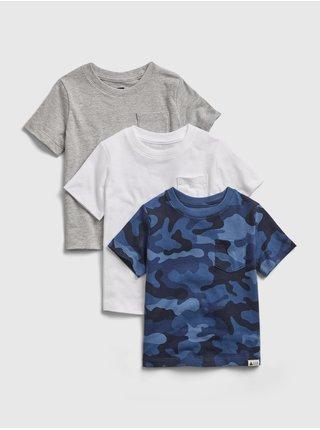 Barevné klučičí dětské tričko ptf organic ss, 3ks