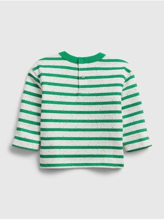 Zelená klučičí baby souprava knit outfit set