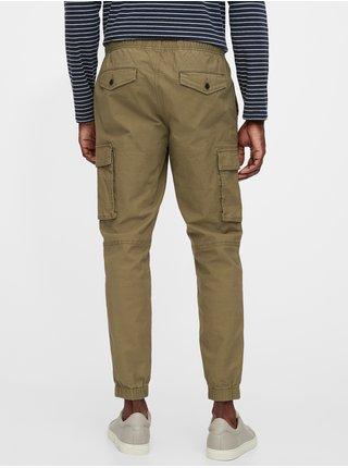 Světle hnědé pánské kalhoty cargo joggers
