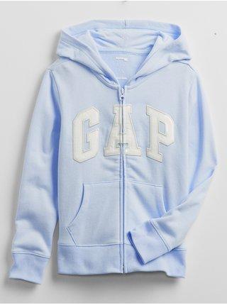 Modrá holčičí dětská mikina GAP Logo v-sp fz