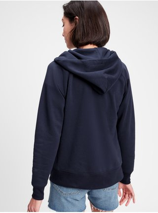 Modrá dámská mikina GAP Logo GAP Logo v clsc fz hd novelty fill