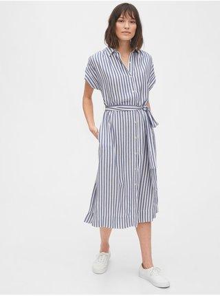 Modré dámské šaty midi dress