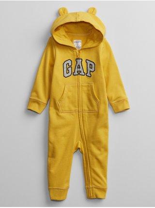 Baby overal GAP Logo v-b sld Zlatá