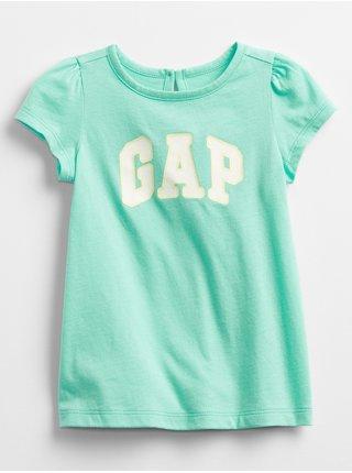 Baby tričko GAP Logo dress Tyrkysová