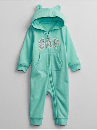 Tyrkysový holčičí baby overal GAP Logo v-g sld