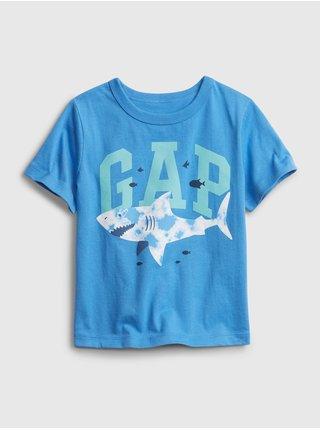 Detské tričko GAP Logo organic mix and match graphic t-shirt Modrá