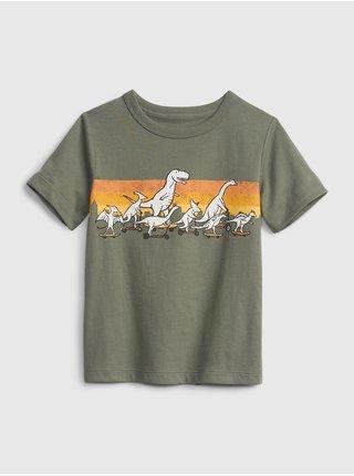 Detské tričko organic mix and match graphic t-shirt Zelená