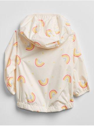 Béžová holčičí baby bunda v-g rnbw wndbrkr