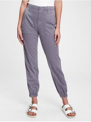 Fialové dámské kalhoty girlfriend utility joggers