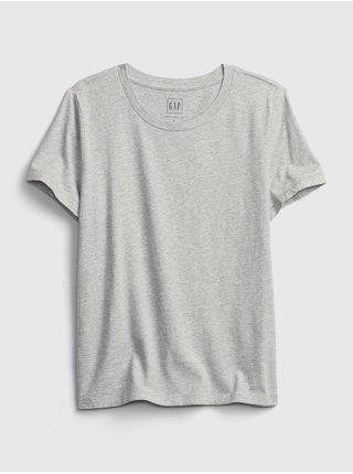 Šedé dámské tričko organic vintage