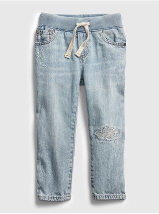 Detské džínsy slim pull-on distressed Modrá