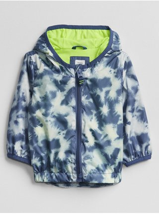 Baby bunda tie-dye windbuster Modrá