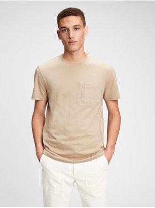 Tričko ss pkt organic cotton pocket t-shirt Béžová