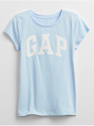 Modré holčičí dětské tričko GAP Logo v arch