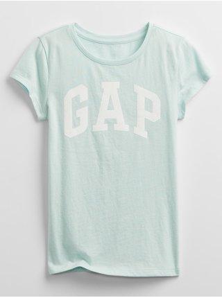 Zelené holčičí dětské tričko GAP Logo v arch
