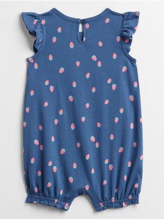Modré holčičí baby body GAP Logo v-g prt sty