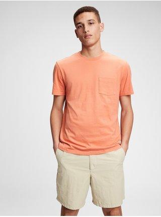Oranžové pánské tričko ss pkt