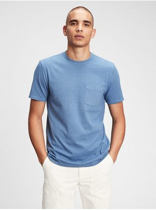 Tričko organic cotton pocket t-shirt Modrá