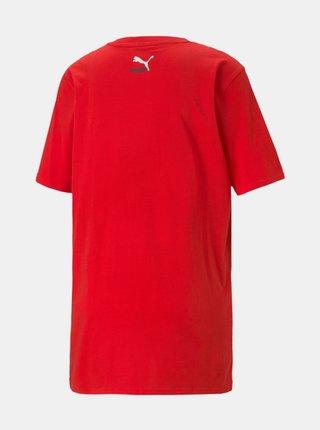 Červené pánské tričko s potiskem Puma Elevate Graphic Tee