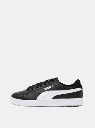 Čierne pánske kožené tenisky Puma