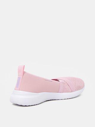 Růžové dámské slip on Puma Adelina
