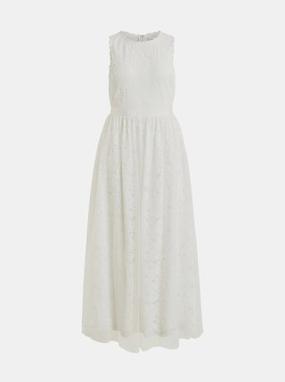 Biele krajkové maxišaty VILA Carmela