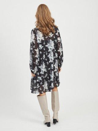 Černé květované šaty VILA Tullan