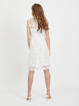 Biele krajkové šaty VILA Manuela