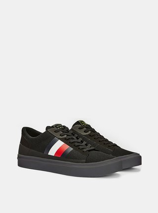 Tommy Hilfiger čierne tenisky Lightweight Signature Colour-Blocked Trainers