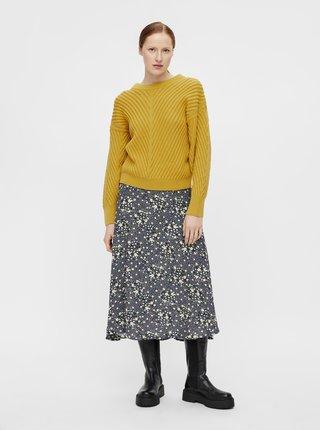 Žlutý volný svetr .OBJECT Alexandra