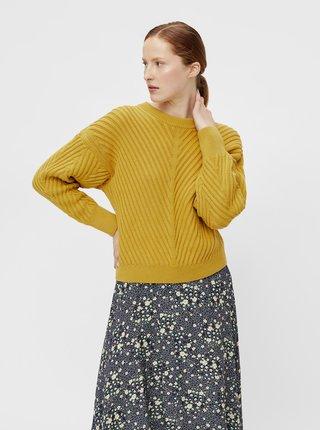Žltý voľný sveter .OBJECT Alexandra